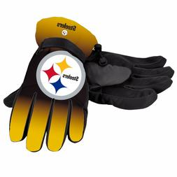 Pittsburgh Steelers Gloves Big Logo Gradient Insulated Winte