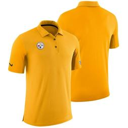Nike Pittsburgh Steelers Gold Sideline Team Issue Logo Perfo