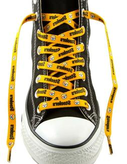 pittsburgh steelers gold team shoe laces 54