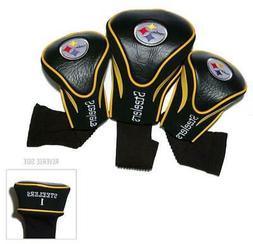 Pittsburgh Steelers Golf Club 3 Piece Headcover Set  NFL Hea