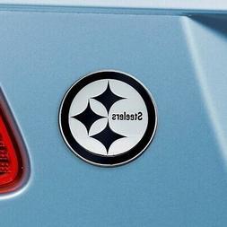 Pittsburgh Steelers Heavy Duty Metal 3-D Chrome Auto Emblem