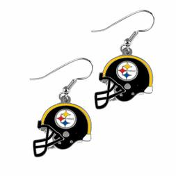 PITTSBURGH STEELERS HELMET DANGLE EARRINGS JEWERY TEAM LOGO