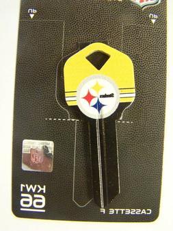 Pittsburgh Steelers  Kwikset KW1 house key blank