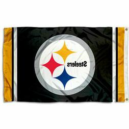 Pittsburgh Steelers Large Outdoor NFL 3 x 5 Banner Flag