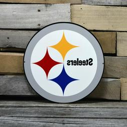 Pittsburgh Steelers Laser Cut Steel Logo Spirit Size Authent
