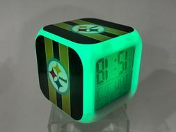 Pittsburgh Steelers LED Digital Alarm Clock Watch Lamp Decor