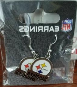 Pittsburgh Steelers Licensed Dangle Style Earrings,Bar Style