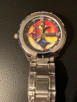 Pittsburgh Steelers Logo Custom Stainless Steel Watch Brand