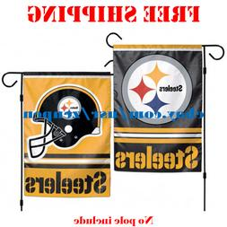 Pittsburgh Steelers Logo Garden Outdoor Flag Double Sides 12