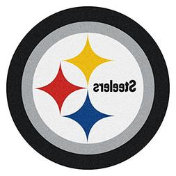 Pittsburgh Steelers Mascot Decorative Logo Cut Area Rug Floo