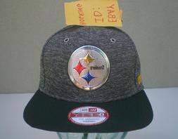 Pittsburgh Steelers New Era Men's Draft Liquid Chrome Logo 9