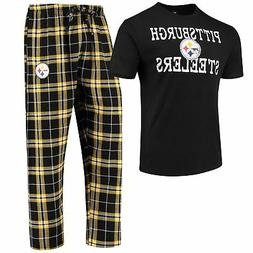 Pittsburgh Steelers Men's NFL Duo Shirt And Pants Pajama Sle