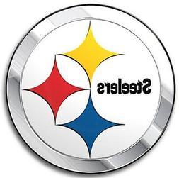 Pittsburgh Steelers Metal Aluminum Color Chrome Auto Emblem