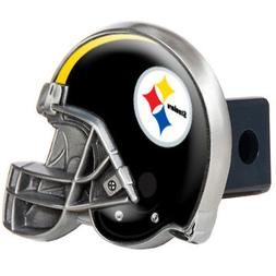 Pittsburgh Steelers Metal Helmet Pewter Trailer Hitch Cover
