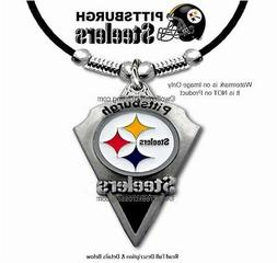 """PITTSBURGH STEELERS NECKLACE - 24"""" NFL FOOTBALL JEWELRY SPOR"""