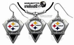 PITTSBURGH STEELERS NECKLACE & EARRINGS SET - NFL FOOTBALL S