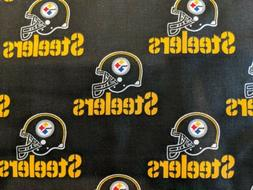 PITTSBURGH STEELERS  NFL 100% COTTON FABRIC BY THE HALF YARD