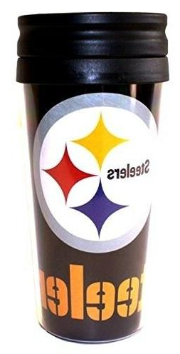 Pittsburgh Steelers NFL 14oz Insulated Travel Hype Tumbler C
