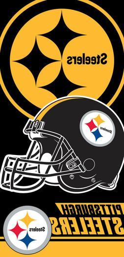 Pittsburgh Steelers NFL Beach Bath Velour Towel