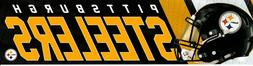 Pittsburgh Steelers NFL Bumper Sticker Strip Vinyl Die Cut M