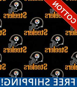 "Pittsburgh Steelers NFL Cotton Fabric - 60"" Wide - Style# 65"