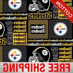 "Pittsburgh Steelers NFL Cotton Fabric - 60"" Wide - Style# 64"