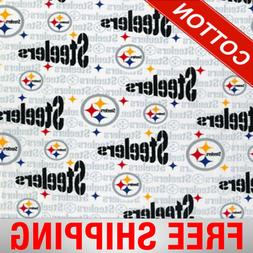 "Pittsburgh Steelers NFL Cotton Fabric - 60"" Wide - Style# 60"