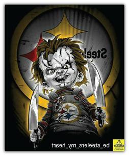Pittsburgh Steelers NFL Curse Of Chucky Car Bumper Sticker D