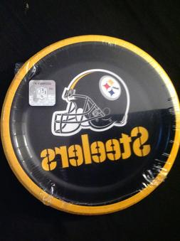 "Pittsburgh Steelers NFL Football 7"" Paper Dessert Plates FRE"