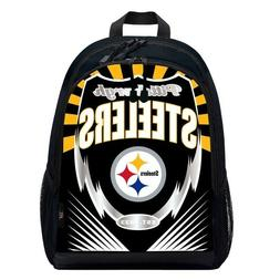 Pittsburgh Steelers NFL Football Backpack Lightning Style Ba