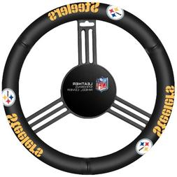 pittsburgh steelers nfl leather steering