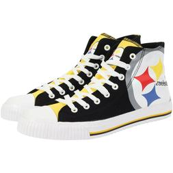 Pittsburgh Steelers NFL Men's High Top Big Logo Canvas Shoes