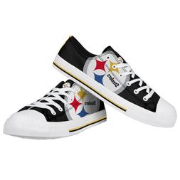 Pittsburgh Steelers NFL Men's Low Top Big Logo Canvas Shoes