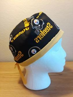 Pittsburgh Steelers NFL Men's Skull/Chemo Surgical Scrub Hat