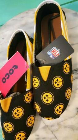 Pittsburgh Steelers NFL Pattern Slip On Canvas Shoes Slipper