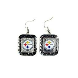 Pittsburgh Steelers NFL Polka Dot Style Dangle Earrings