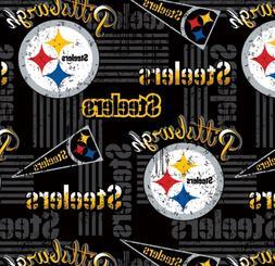 "Pittsburgh Steelers NFL Retro Design 60"" Cotton Fabric-$8.99"