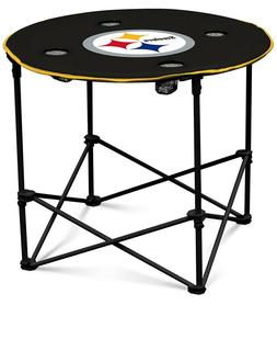 Pittsburgh Steelers NFL Round Folding Picnic Table Football