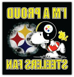 Pittsburgh Steelers NFL Snoopy Car Bumper Sticker Decal - 3'