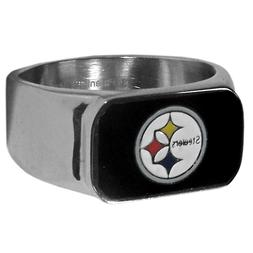 PITTSBURGH STEELERS NFL STAINLESS STEEL RING