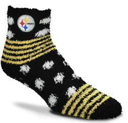 Pittsburgh Steelers NFL Women's Homegator Fuzzy Sleep Socks