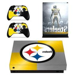 Pittsburgh Steelers NFL Xbox one X Console Vinyl Skin Decals