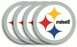 PITTSBURGH STEELERS NFL OFFICIAL 4 PIECE HEAVY DUTY VINYL CO