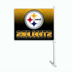 Pittsburgh Steelers Ombre Printed Car Auto Window Flag