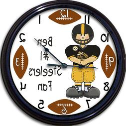 Pittsburgh Steelers Personalized Wall Clock NFL Football PA