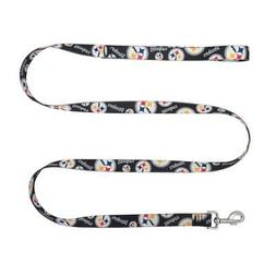 Pittsburgh Steelers Pet Leash 1x60  NFL Dog Walk Collar Clip