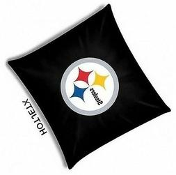 PITTSBURGH STEELERS PILLOW OFFICIAL TOSS NFL FOOTBALL BED SO