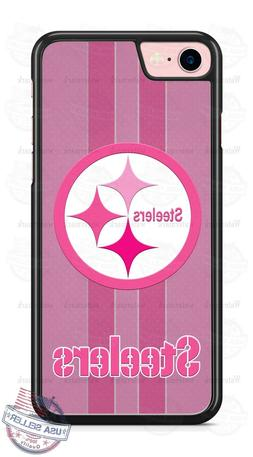 Pittsburgh Steelers Pink Football Logo Phone Case for iPhone