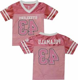 Pittsburgh Steelers | NFL Team Apparel Pink Jersey #43 Polam