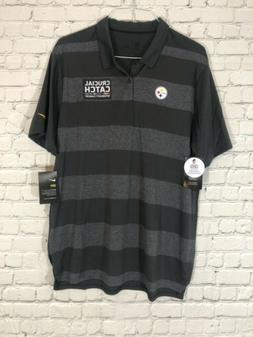 NIKE Pittsburgh Steelers Polo 2XL XXL Crucial Catch Intercep